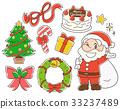 聖誕節例證材料集合 33237489