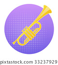 Trumpet Icon Wind Music Instrument Concept 33237929