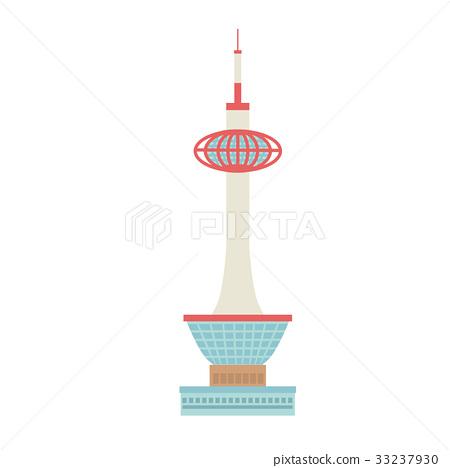 Kyoto Tower Illustration 33237930