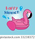 紅鶴泳圈,夏天,泳圈 33238372