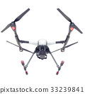 Professional Drone isolated on background. 3d 33239841