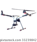 Professional Drone isolated on background. 3d 33239842