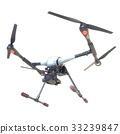 Professional Drone isolated on background. 3d 33239847