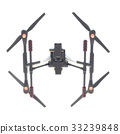 Professional Drone isolated on background. 3d 33239848