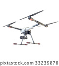 Professional Drone isolated on background. 3d 33239878