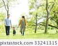 在公園裡玩的家庭 33241315
