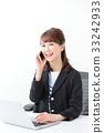 企業形象·年輕的女士 33242933