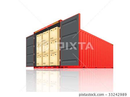 Cargo container vector 33242989