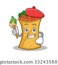 Artist kebab wrap character cartoon 33243560