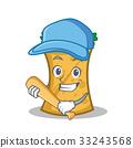 Playing baseball kebab wrap character cartoon 33243568
