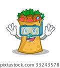 Diving kebab wrap character cartoon 33243578