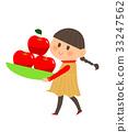蘋果 女孩 年輕的女孩 33247562