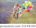 Beautiful family on the lavender field 33248160