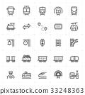 상징, 교통, 기차 33248363