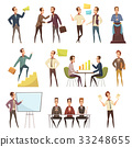 Business Meeting Icons Set 33248655