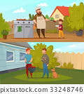 barbecue, party, vector 33248746