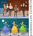 Street Artists Flat Cartoon Compositions  33248750