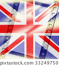 Union Jack Represents British Flag And Background 33249750