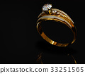 Engagement gold ring with jewelry gem. 33251565