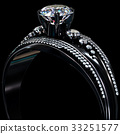 Black gold coating engagement ring with diamond 33251577