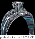 Silver engagement band with diamond gem. 33251591