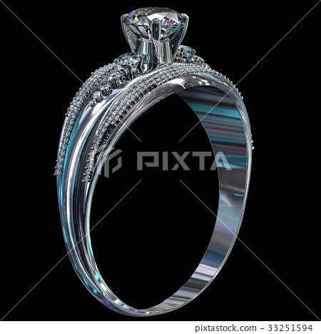 Silver engagement band with diamond gem. 33251594