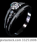 Black gold coating engagement ring with diamond 33251606