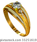 Engagement gold ring with jewelry gem. 33251619