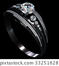 Black gold coating engagement ring with diamond 33251628