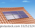 Solar panels on the roof 33252324