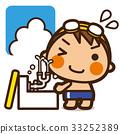 牌匾孩子游泳男孩洗眼睛 33252389