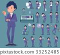 flat type perm hair businessman_sickness 33252485
