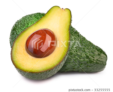 Two avocados isolated 33255555