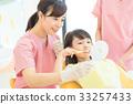 牙科,牙科保健師,牙醫,女人,牙齒刷牙指導,孩子 33257433