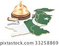 Pakistan, Pakistani, map 33258869