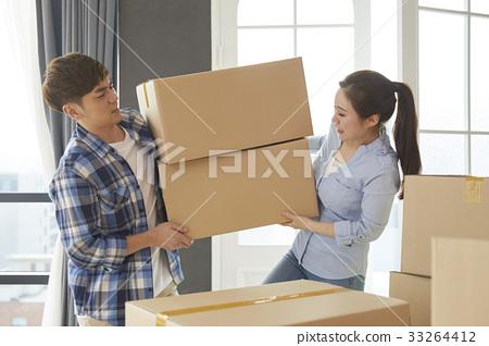 커플,상자,이사,이사준비 33264412