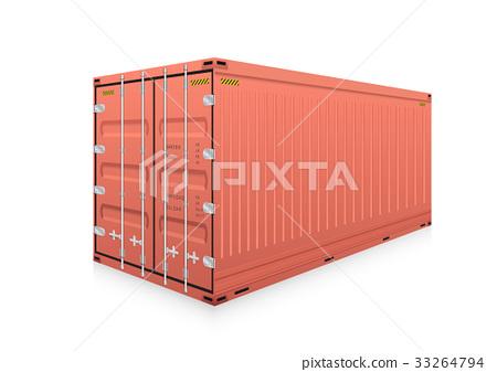 Cargo container vector 33264794