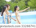 女性朋友 游泳池 水池 33266741