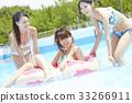 女性朋友 游泳池 水池 33266911
