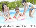 女性朋友 游泳池 水池 33266916
