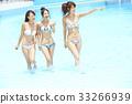 女性朋友 游泳池 水池 33266939