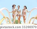 女性朋友 游泳池 水池 33266970