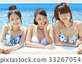 泳池度假村比基尼女朋友 33267054