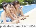 女性朋友 游泳池 水池 33267056