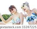 女性朋友 水池 旅遊勝地 33267225