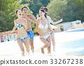 年輕人 水池 高興 33267238