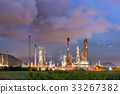 Oil refinery plant at cloundy twilight 33267382