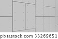 Wall Acoustic Panels , 3d render interior design, mock up illust 33269651