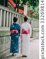 ผู้หญิงสองคนในชุดยูกาตะ 33269814