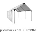 Gazebo, Canopy house isolated on white, 3d rendering illustratio 33269961